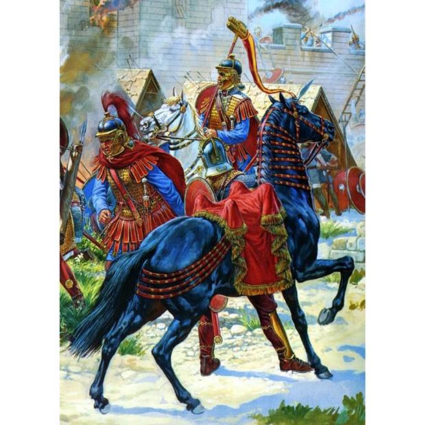 римская кавалерия в бою картина