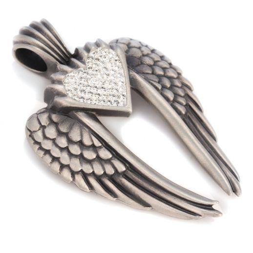 Подвеска Сваровски крылья ангела BICO PV7C