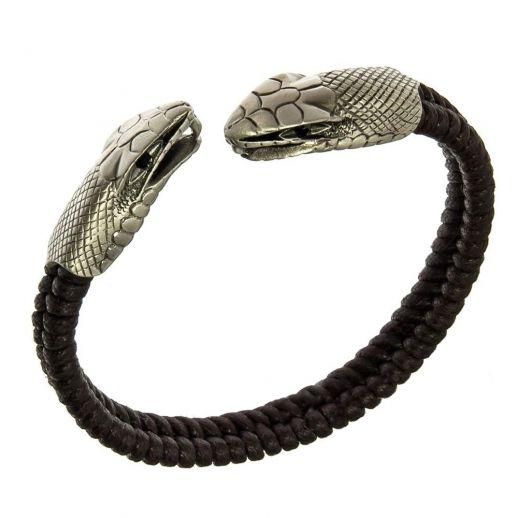 Браслет с головой змеи BICO CA28BLK