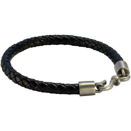 Плетеный кожаный браслет FB402BLK