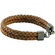 Плетеный кожаный браслет двойной FB403NA