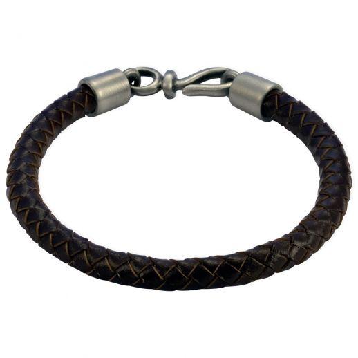 Плетеный кожаный браслет FB402BR