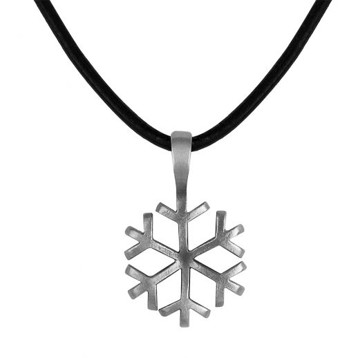 Кулон снежинка E217/CL8BLK