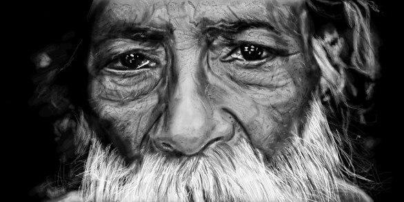 ищображение старца с мудрым взглядом